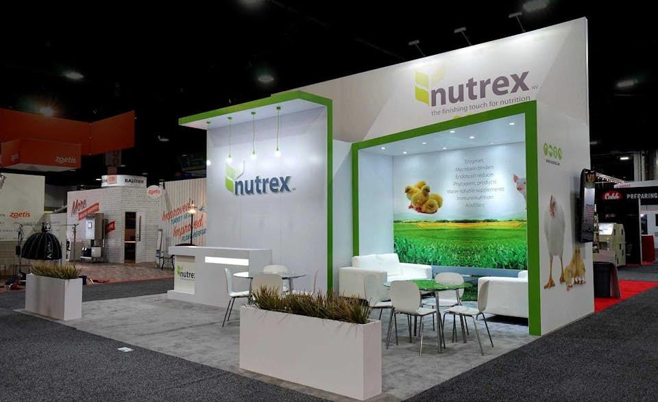 Nutrex trade show exhibit designed by BTWN Exhibits.