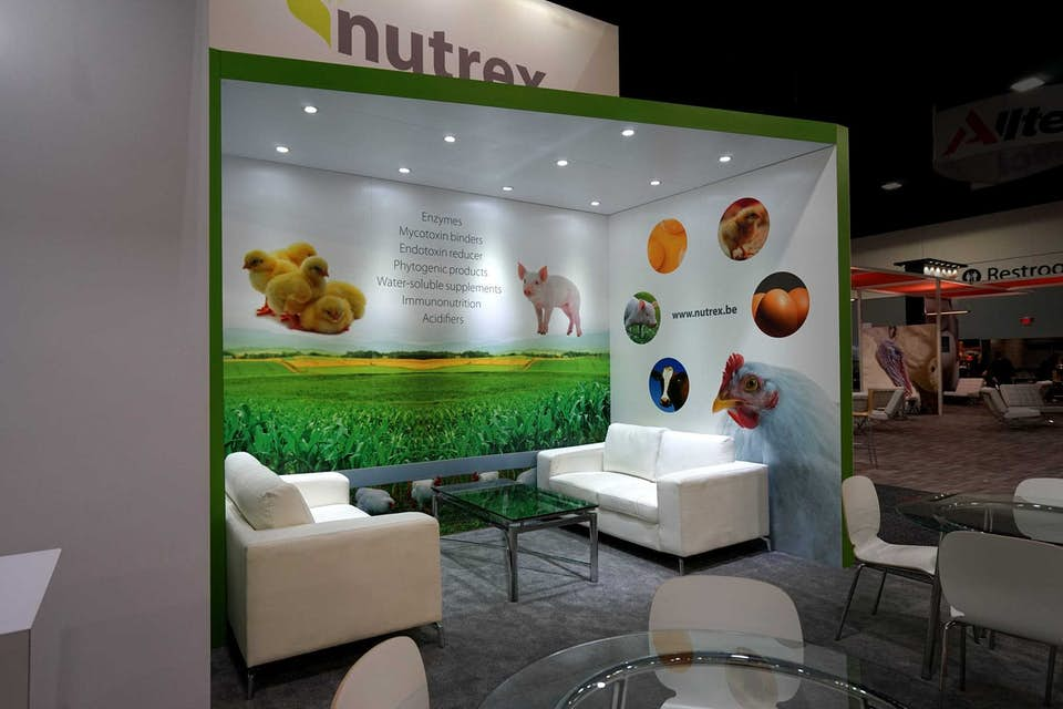 Nutrex graphics at 2018 IPPE trade show in Atlanta, Georgia.